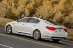 2016 Kia K900 Luxury V8 in Snow White Pearl - Driving Rear Left Three-quarter View