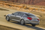 2016 Kia K900 Luxury V8 in Mineral Silver - Driving Rear Left Three-quarter View