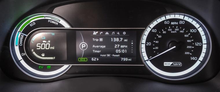 2018 Kia Niro Touring Hybrid Gauges Picture