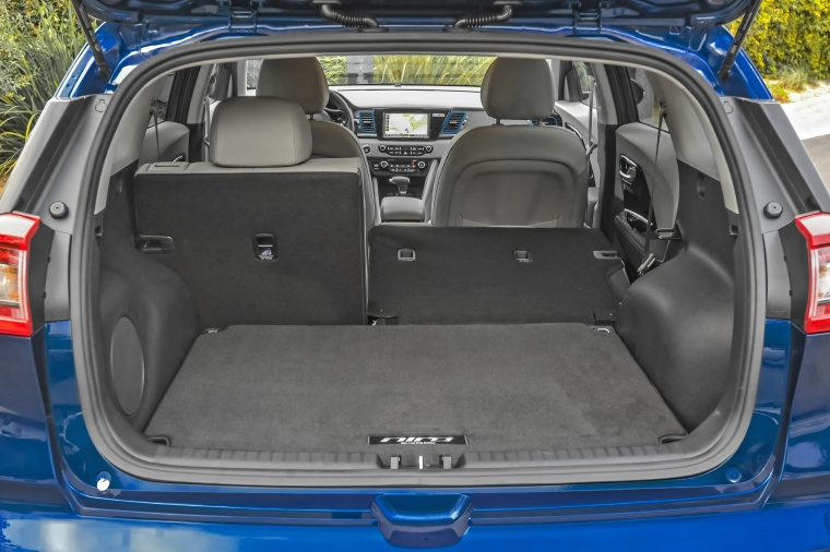 2018 Kia Niro Touring Hybrid Trunk with Rear Seats Folded Picture