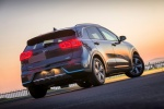 Picture of a 2018 Kia Niro Plug-In Hybrid in Metal Stream from a rear right perspective