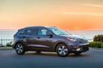Picture of a 2018 Kia Niro Plug-In Hybrid in Metal Stream from a side perspective