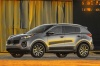 Picture of a 2017 Kia Sportage EX in Mineral Silver from a left side perspective