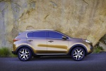 Picture of a 2019 Kia Sportage SX Turbo in Burnished Copper from a side perspective