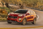 2019 Kia Sportage SX Turbo in Hyper Red - Driving Front Left Three-quarter View