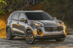 Picture of a 2019 Kia Sportage EX in Mineral Silver from a front right perspective