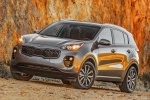 Picture of a 2019 Kia Sportage EX in Mineral Silver from a front left perspective
