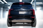 Picture of a 2020 Kia Telluride AWD in Ebony Black from a orientation perspective