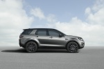 Picture of a 2018 Land Rover Discovery Sport HSE Luxury in Scotia Gray Metallic from a right side perspective