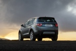 Picture of a 2018 Land Rover Discovery Sport HSE Luxury in Scotia Gray Metallic from a rear left perspective
