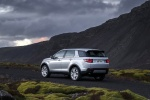 Picture of a 2018 Land Rover Discovery Sport HSE Luxury in Indus Silver Metallic from a rear left three-quarter perspective