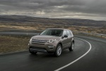 Picture of a driving 2018 Land Rover Discovery Sport HSE Luxury from a front left perspective