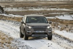Picture of a driving 2018 Land Rover Discovery Sport HSE Luxury from a frontal perspective