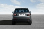Picture of a 2018 Land Rover Discovery Sport HSE Luxury in Scotia Gray Metallic from a rear perspective