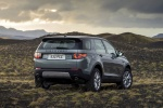 Picture of a 2018 Land Rover Discovery Sport HSE Luxury in Scotia Gray Metallic from a rear right perspective