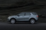 Picture of a 2018 Land Rover Discovery Sport HSE Luxury in Scotia Gray Metallic from a left side perspective