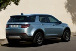 Picture of a 2020 Land Rover Discovery Sport P250 S in Byron Blue Metallic from a rear right three-quarter perspective