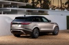 Picture of a 2019 Land Rover Range Rover Velar P380 HSE R-Dynamic in Silicon Silver Premium Metallic from a rear right three-quarter perspective