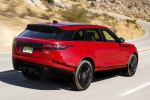 2019 Land Rover Range Rover Velar P250 SE R-Dynamic in Firenze Red Metallic - Driving Rear Right Three-quarter View