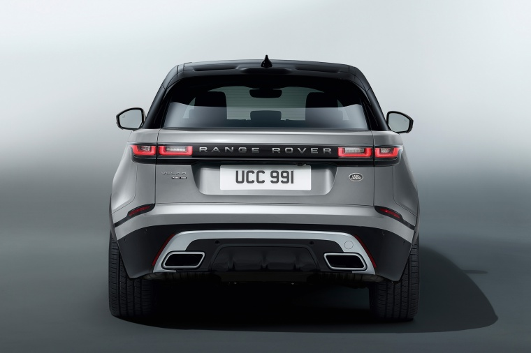 Picture of a 2020 Land Rover Range Rover Velar P380 R-Dynamic HSE in Silver from a rear perspective