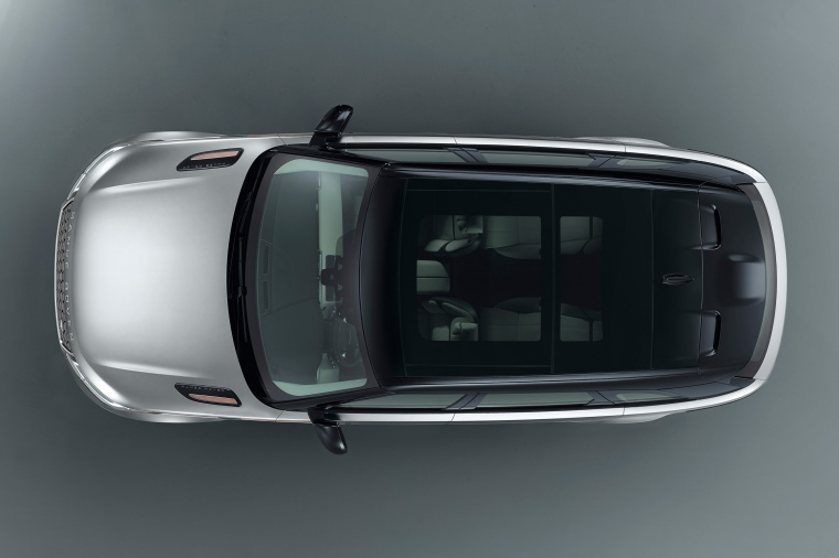 Picture of a 2020 Land Rover Range Rover Velar P380 R-Dynamic HSE in Silver from a top perspective