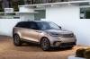 Picture of a 2020 Land Rover Range Rover Velar P380 R-Dynamic HSE in Silver from a front right three-quarter perspective