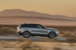 Picture of a driving 2020 Land Rover Range Rover Velar P380 R-Dynamic HSE in Silver from a right side perspective