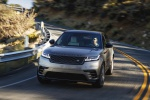 Picture of a driving 2020 Land Rover Range Rover Velar P380 R-Dynamic HSE in Silver from a frontal perspective