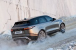Picture of a driving 2020 Land Rover Range Rover Velar P380 R-Dynamic HSE in Silver from a rear right perspective