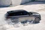Picture of a driving 2020 Land Rover Range Rover Velar P380 R-Dynamic HSE in Silver from a rear right three-quarter perspective