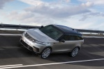 Picture of a driving 2020 Land Rover Range Rover Velar P380 R-Dynamic HSE in Silver from a front left three-quarter perspective