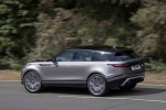 Picture of a driving 2020 Land Rover Range Rover Velar P380 R-Dynamic HSE in Silver from a rear left three-quarter perspective
