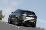 Picture of a driving 2020 Land Rover Range Rover Velar P380 R-Dynamic HSE in Silver from a rear left perspective