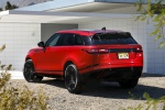 Picture of a 2020 Land Rover Range Rover Velar P250 R-Dynamic S in Firenze Red Metallic from a rear left perspective