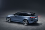 Picture of a 2020 Land Rover Range Rover Velar SVAutobiography Dynamic Edition in Byron Blue Metallic from a rear left three-quarter perspective