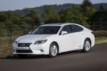 2015 Lexus ES 300h Hybrid Sedan in Starfire Pearl - Driving Front Left View