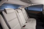 Picture of 2015 Lexus ES 300h Hybrid Sedan Rear Seats in Light Gray