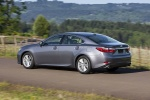 2015 Lexus ES 350 Sedan in Nebula Gray Pearl - Driving Rear Left Three-quarter View