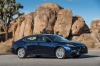 2018 Lexus ES 350 Sedan in Nightfall Mica from a front right three-quarter view