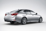 2015 Lexus GS 450h Hybrid Sedan in Liquid Platinum - Static Rear Right Three-quarter View