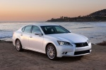 2015 Lexus GS 450h Hybrid Sedan in Starfire Pearl - Static Front Right Three-quarter View