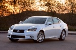 2015 Lexus GS 450h Hybrid Sedan in Starfire Pearl - Static Front Left Three-quarter View