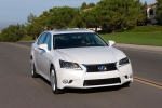 2015 Lexus GS 450h Hybrid Sedan in Starfire Pearl - Driving Front Right  View