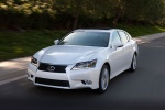 2015 Lexus GS 450h Hybrid Sedan in Starfire Pearl - Driving Front Left View