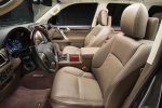 Picture of a 2018 Lexus GX460's Front Seats in Sepia
