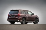 Picture of a 2018 Lexus GX460 Sport Design Package in Claret Mica from a rear right three-quarter perspective