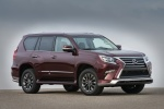 Picture of a 2018 Lexus GX460 Sport Design Package in Claret Mica from a front right three-quarter perspective
