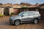 Picture of a 2018 Lexus GX460 in Nebula Gray Pearl from a side perspective