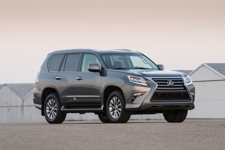 2019 Lexus GX460 in Nebula Gray Pearl from a front right three-quarter view