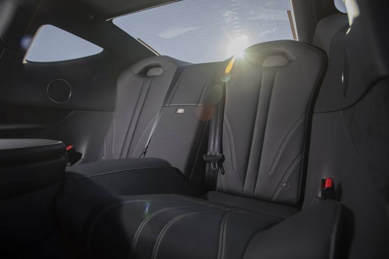 2018 Lexus LC 500 Coupe Rear Seats Picture